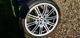 """Genuine M3 E46 Diamond Cut REAR 19"""" Wheel with VGC TIRE 255 35 19"""