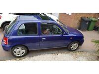 Cadbury Blue Nissan Micra - great first car