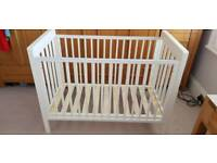 Mama's and Papa's white cot with storage