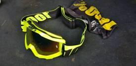 Motocross goggles & helmet