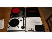 Portablism Numark Pt01, Ion USB Turntable, Mixfader DJ