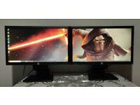 "23"" Full HD 1080p HP LED Monitors Dual / Extended Display, vga,dvi,display ports+ USB Ports"