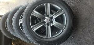 LIKE NEW FORD F150 HIGH PERFORMANCE  ARCTIC  CLAW  WINTER TIRES 275 / 55 /  20  ON AFTERMARKET ALLOY     WHEELS