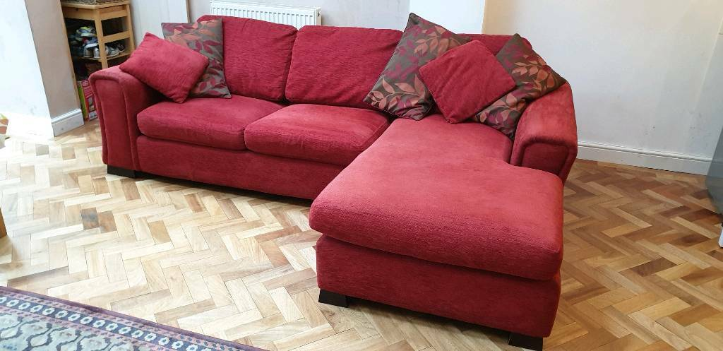 newest 26417 21327 DFS brand red 3 Seater Left hand L-Shaped Sofa Bed. | in Hanwell, London |  Gumtree