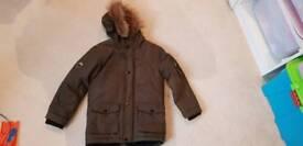 Rebel coat age 7-8 years kharki green