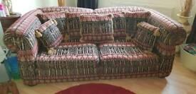 Lovely Egyptian Motif 2 seater sofa