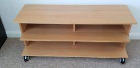 Ikea Benno TV Bench/Stand, wheeled, light oak
