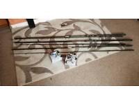 Carp fishing rods add reels