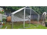 2x3 meter galvanised metal chicken aviary/ run