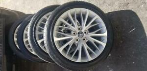 BRAND NEW TAKE OFF 2019 TOYOTA CAMRY FACTORY OEM  18 INCH ALLOY WHEELS WITH HIGH PERFORMANCE   235 / 45 / 18 TIRES