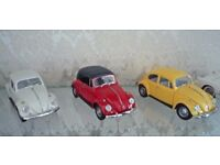 Three Franklin Mint Beetles in Mint Condition, 1:24 Scale