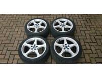 GENUINE FORD FOCUS 18 INCH ALLOY WHEELS 5X108 TITANIUM X ZETEC S ST CONNECT VOLVO MONDEO