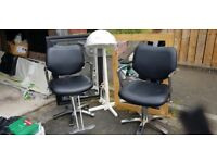2x hairdressing chairs,hood dryer plus 2x free mirrors