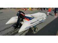 Quicksilver Inflatable Rib and 15HP Mercury engine