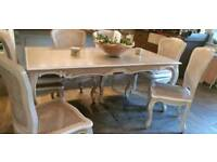Gorgeous French style kitchen/ dining table with 6 chairs