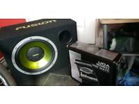 """Fusion 10"""" sub and New 300w amp"""