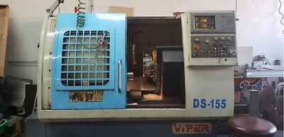 2004 Mighty Viper Cnc Lathe Ds-155 W Bar Feeder Excellent Working Condition