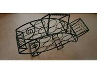 Wrought Iron Wine Rack - Fish Shape
