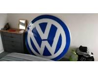 Genuine VW dealership sign