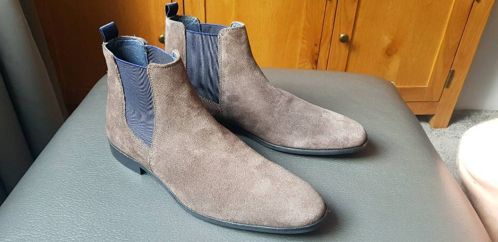 Dune Mens Mayweather Chelsea Boots Size 8 In Shirley West