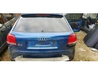 AUDI A3 BREAKING BOOTLID BLUE TINTED DRIVER WINDOW TINTED PASSENGER HEADLIGHT
