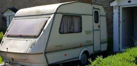 2 birth caravan plus awning