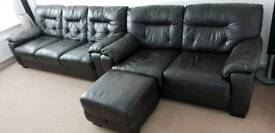 Brown Leather DFS Sofa Set