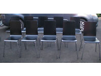 Ikea Martin chairs, black, 7 + 1 off available, very good condition apart from 1