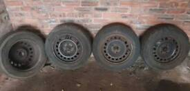 4 Steel wheels for a Astra
