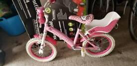 Pink hello kitty bike
