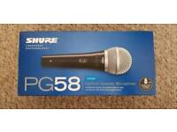 Shure PG58 With Boom Mic Stand and Cable
