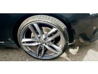 """20"""" 5x112 nearly new alloy wheels with tyres"""