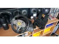 PlayStation 2 steering wheel.