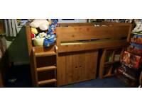 Child's full bedroom suite / furniture, Cabin bed, Wardrobe, units