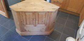 Solid pine Corner TV cabinet