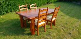 Heavy solid wood Table and chairs