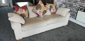 SCS Burbank four seater, snuggle chair and large storage footstool