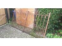 Antique wrought Iron double gates.