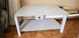 Grey glass top tv stand (£10)