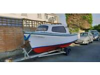 Fishing boat 16ft oyster and trailer