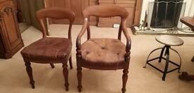 Incredible, unique set of 10 antique dining chairs