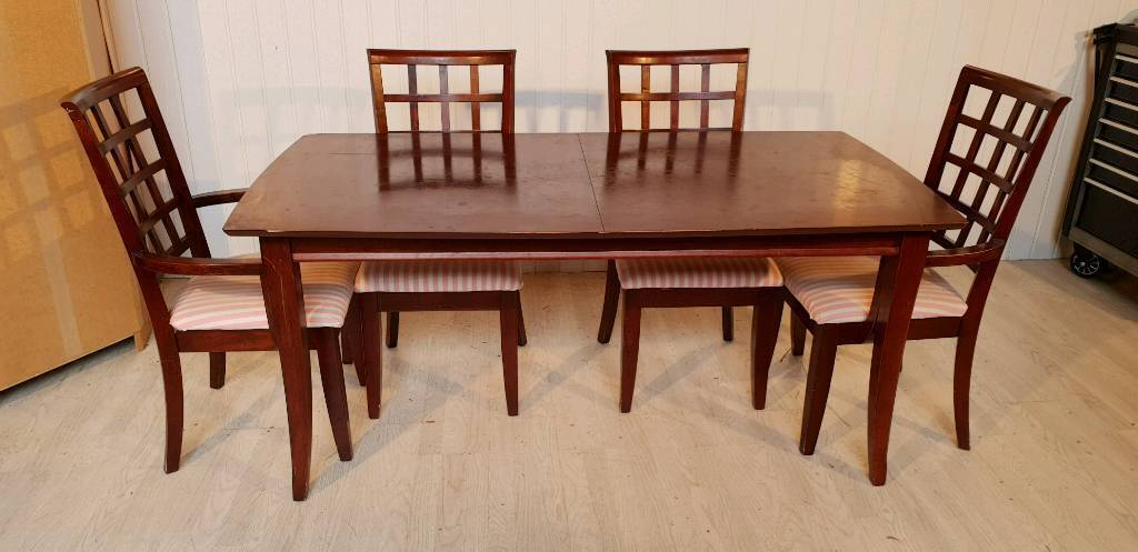 Pending Collection Extendable Dining Table And 4 Chairs