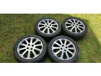 Vauxhall Corsa 16 inch Alloys with good tryes