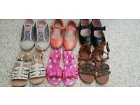 6 pairs of girls size 10 shoes, next & lelli kelly