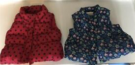 Two 6-12 Months Girls puffa's