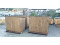 Wooden garden storage boxes shed for bikes bbq lawnmower tools etc