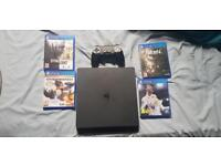 PS4 plus games and box