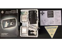 GET Professional B&W Wireless CCTV System c/w all accessories/instructions. Boxed & Unused