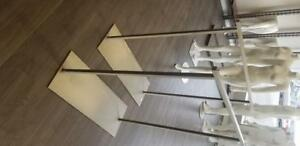 CLOTHING RACK, GARMENT RACKS - $20ea