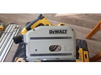 Dewalt plunge saw with one rail